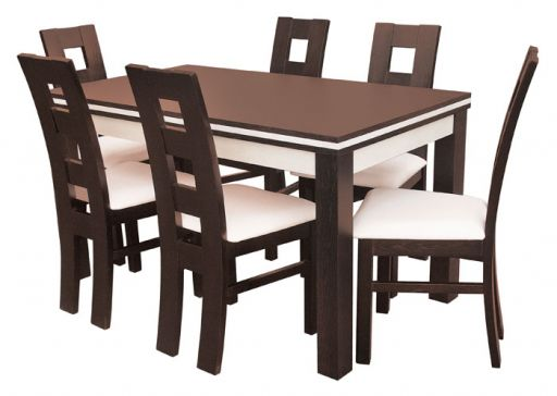3b953962b72e Kuchynský stôl a 6 stoličiek s koženým poťahom